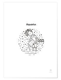 Poster  Aquarius boy - Petit Griffin