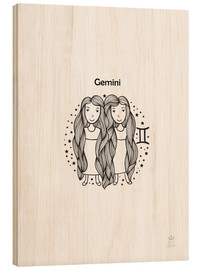 Wood print  Gemini girl - Petit Griffin