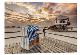 Acrylic print  In the morning the North Sea beach of Sankt Peter Ording - Dennis Stracke