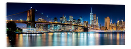 Acrylic print  New York City Skyline with Brooklyn Bridge (panoramic view) - Sascha Kilmer