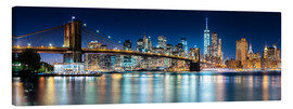Canvas print  New York City Skyline with Brooklyn Bridge (panoramic view) - Sascha Kilmer