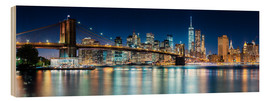 Wood  New York City Skyline with Brooklyn Bridge (panoramic view) - Sascha Kilmer