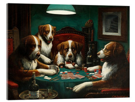 Acrylic print  The poker game - Cassius Marcellus Coolidge