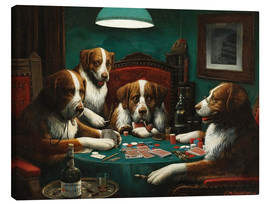 Canvas  The poker game - Cassius Marcellus Coolidge