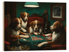 Wood print  The poker game - Cassius Marcellus Coolidge