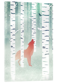 Acrylic glass  winter fox - Sybille Sterk