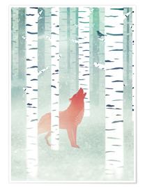 Poster winter fox