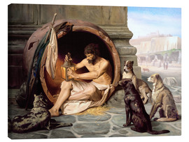 Canvas  Diogenes in his barrel - Jean Leon Gerome