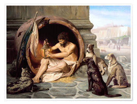 Premium poster  Diogenes in his barrel - Jean Leon Gerome