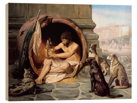 Wood print  Diogenes in his barrel - Jean Leon Gerome