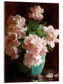 Acrylic print  Pink Roses - Charles Courtney Curran