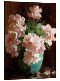 Aluminium print  Pink Roses - Charles Courtney Curran