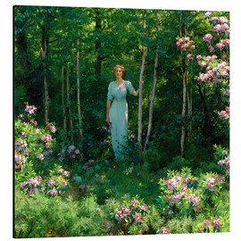 Aluminium print  The Edge of the Woods - Charles Courtney Curran