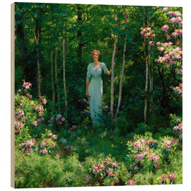 Wood print  The Edge of the Woods - Charles Courtney Curran