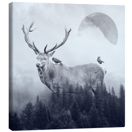 Canvas print  deer autumn - Peg Essert
