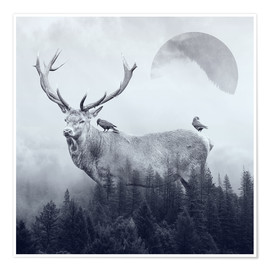 Premium poster  deer autumn - Peg Essert