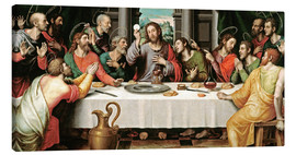 Canvas print  The last supper - Vicente Juan Macip