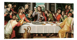 Foam board print  The last supper - Vicente Juan Macip