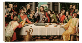Wood print  The last supper - Vicente Juan Macip