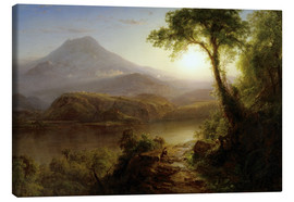 Canvas print  Tropical Scenery - Frederic Edwin Church