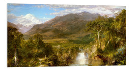 Foam board print  Heart of the Andes - Frederic Edwin Church