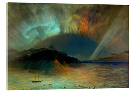 Acrylic print  Northern lights - Frederic Edwin Church