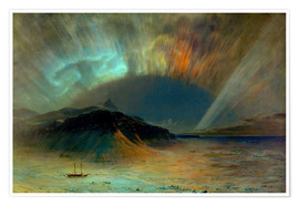 Premium poster  Northern lights - Frederic Edwin Church