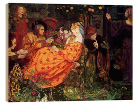 Wood print  Riches - Eleanor Fortescue-Brickdale