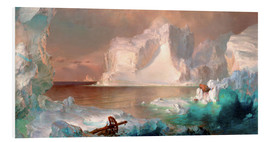 Foam board print  The icebergs - Frederic Edwin Church
