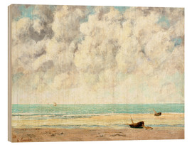 Wood  Calm lake - Gustave Courbet