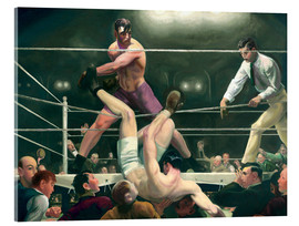 Acrylic print  Dempsey and Firpo - George Wesley Bellows