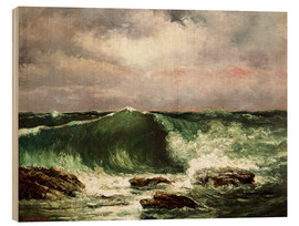 Wood  Waves  - Gustave Courbet
