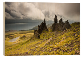 Wood print  Old Man of Storr, Isle of Skye, Scotland - Markus Ulrich