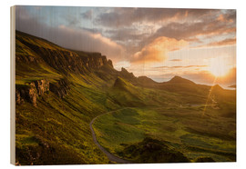 Wood print  The Quiraing, Isle of Skye, Scotland - Markus Ulrich