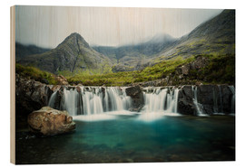 Wood print  The Fairy Pools, Glen Brittle, Skye, Scotland - Markus Ulrich