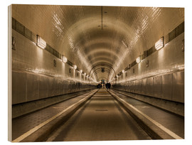 Wood print  Famous Elbtunnel, Hamburg, Germany - Markus Ulrich