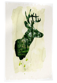 Acrylic glass  The stag - Sybille Sterk