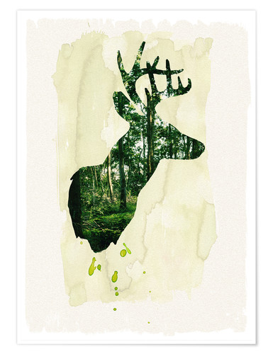 Premium poster The stag