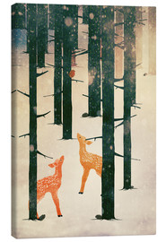 Canvas print  Winter Deer - Sybille Sterk