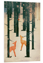 Foam board print  Winter Deer - Sybille Sterk