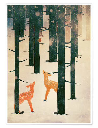 Poster Winter Deer