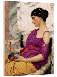 Wood print  Ismenia - John William Godward