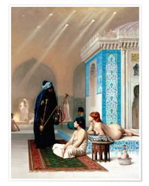 Premium poster Bath in the harem