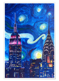 M. Bleichner - Starry Night, in New York - Van Gogh inspirations in Manhattan