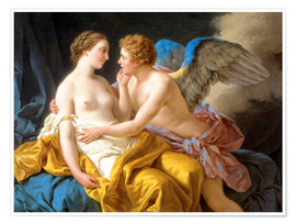 Premium poster Amor and Psyche