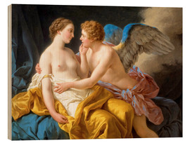 Wood print  Amor and Psyche - Louis Jean Francois Lagrenee