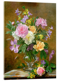 Acrylic print  Vase of Flowers - Albert Williams