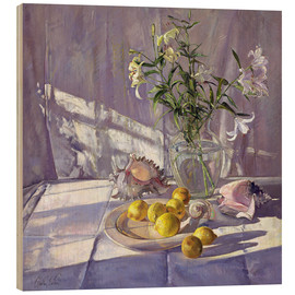 Wood  Still Life Flowers and Lemons - Timothy Easton