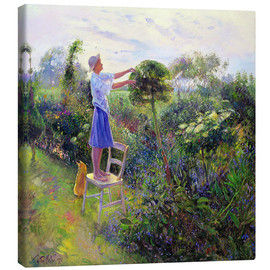 Canvas  Working in the garden - Timothy Easton