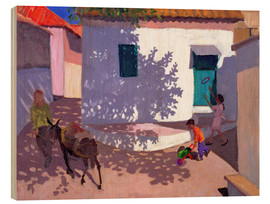 Wood print  Green Door and Shadows, Lesbos, 1996 - Andrew Macara